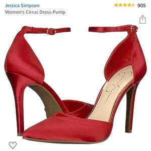 Jessica Simpson Satin Red Pump